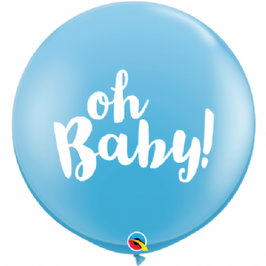 3ft Giant Balloons - Oh Baby! Blue Balloons | Free Delivery available